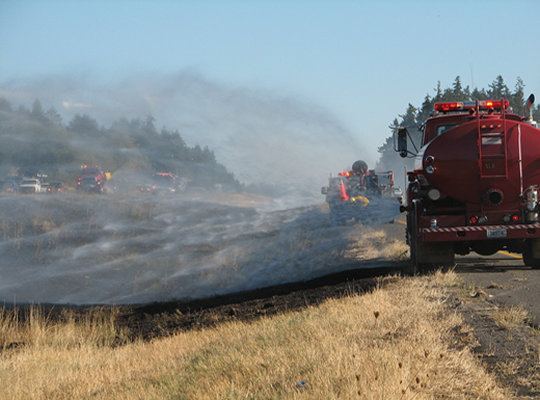 Interstate 5 Median Fire